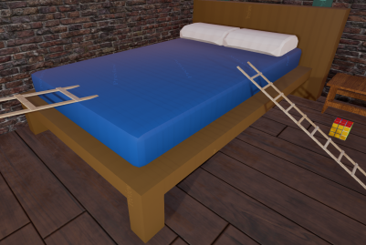 low poly bed